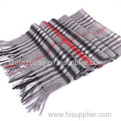 Wool Scarf With Simple Dots Or Stripe Or Plaid Printed
