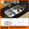 Double bowl undermount stainless steel kitchen sink