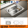 Single bowl above counter stainless steel sink