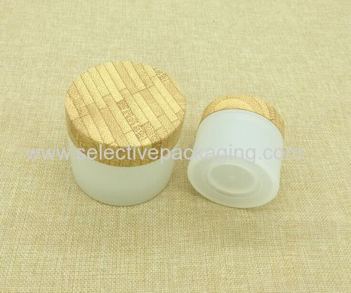transparent PP jar with wood grain water transfer printing jar