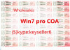 win 7 win 8 and win 10 COA oem pro key will activate for both 32/64 bits OS