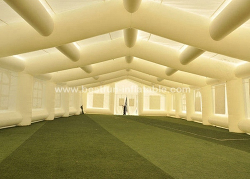 Big white event used advertising inflatable tents