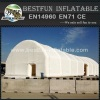 Large mobile white inflatable tennis court tent