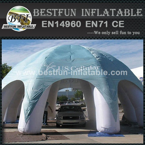 Large spider inflatable event tent with sun shelter