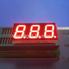 "Ultra Red common anode 0.52"" 3 digit 7 segment led display for digital indicator"