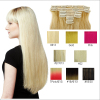 100% remy clip in human hair extensions