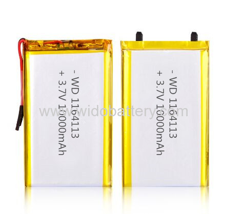 polymer li-ion battery 3.7V LP1164113 with 10000mAh 1164113 10Ah high capacity battery ul battery