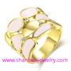 Gold Plated Costume Fashion Zircon Jewelry Woman Rings