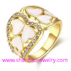 Gold Plating Costume Fashion Zircon Jewelry Woman Rings