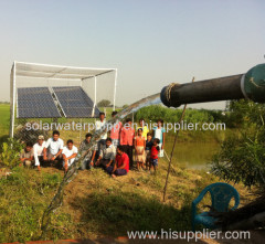 Agriculture irrigation application 5.5KW solar water pump system