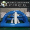 Double reinforcement Inflatable floating bridge