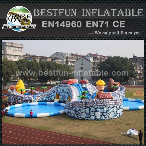 Giant Slide Largest Pool Inflatable Water Park