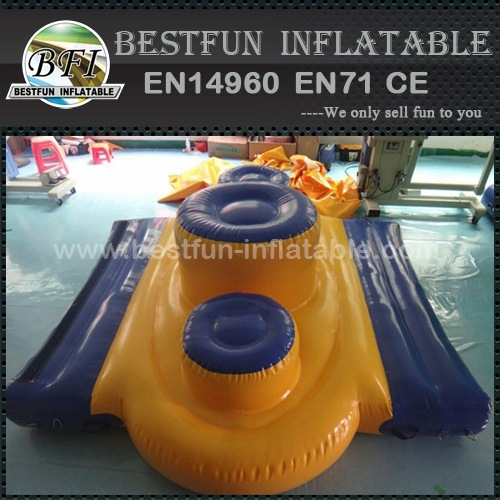 Inflatable award podium for water park