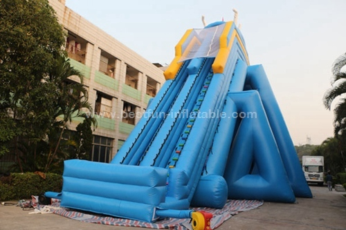 Inflatable triple hippo water slides