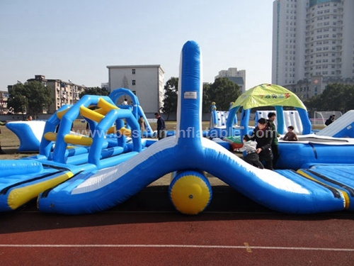 Swimming pool float inflatable aqua obstacle course