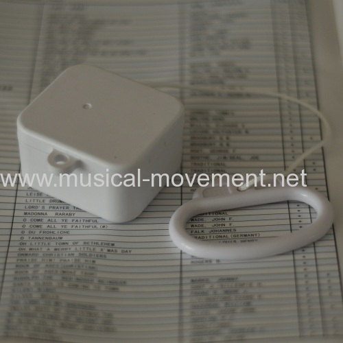PULL STRING MUSICAL BOX RING HANDLE