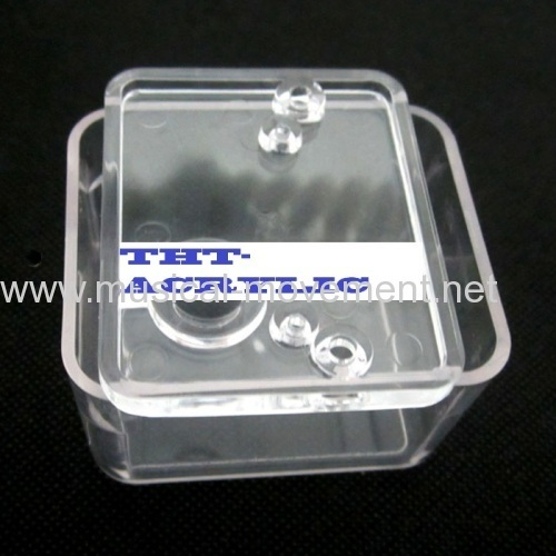 ACRYLIC CLEAR SHELL CASE FOR WIND UP MUSIC BOX
