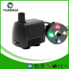 Mini fountain pump with led light