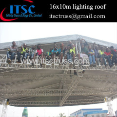 16x10M lighting truss pyramid roof in Africa