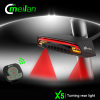 Meilan wireless remote control LED rear light set turn signal laser beam smart bicycle accessory
