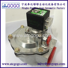 ASCO type 2 inch right angle pulse diaphragm valve Aluminum alloy solenoid valve