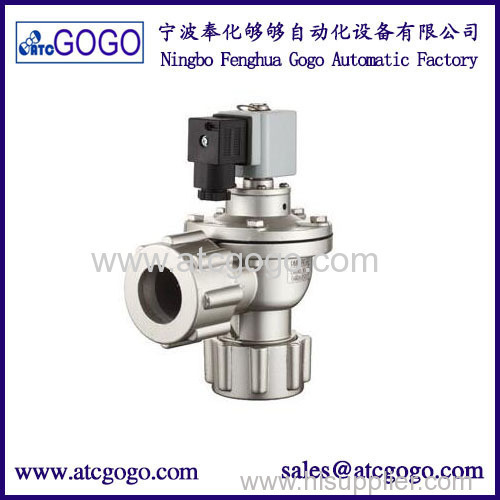 Right angle electromagnetic pulse valve with nut