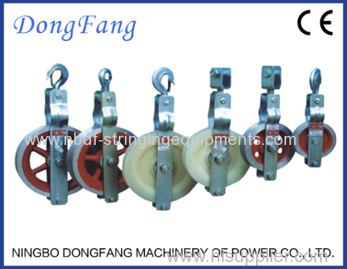 Single Conductor Pulley Blocks with Nylon wheels mounted on bearings