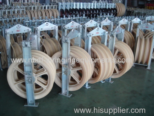 Two Bundled Conductor Pulleys Blocks with Three sheaves on good quality bearings