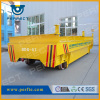 Rail powered material handling cart for industrial equipment