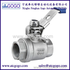 High quality two stainless steel ball valve Female thread 1/2 inch BSP SS304 Small 2 way Ball Valve