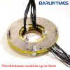 Pancake slip ring with through bore 50RPM work speed for mining equipment missile launcher from Barlin Times