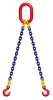 Galvanized chain sling 2 legs with safety hook