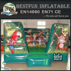 Inflatable animal combo game jungle air bounce