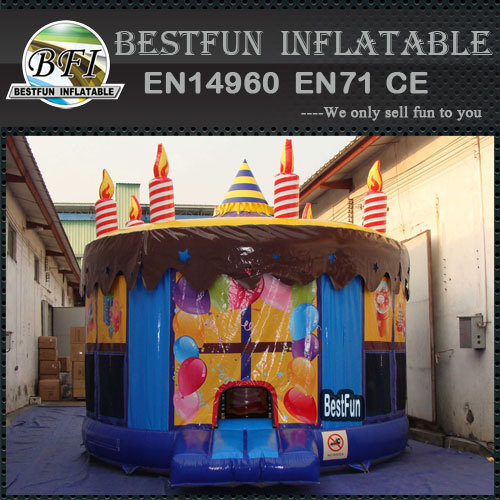 Inflatable Birthday Cake Jumping House Bouncer