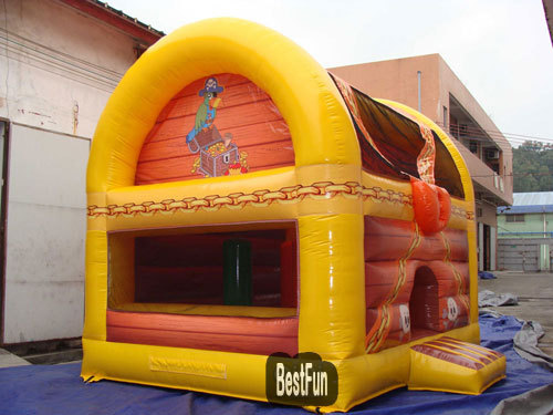 Treasure box inflatable bouncer jumping castle