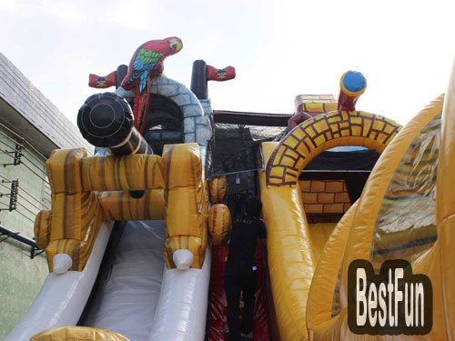 Inflatable Pirate ship kingdom outdoor playground