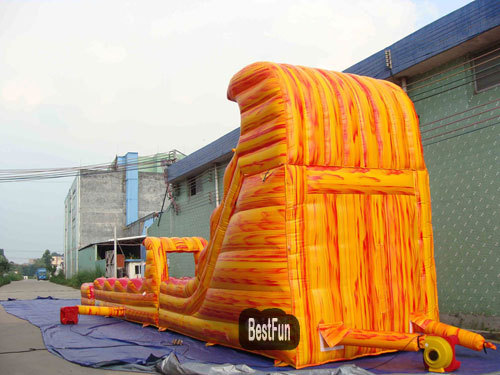 Inflatable outdoor swing slide combination