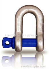 Color painted screw pin chain shackle with high quality