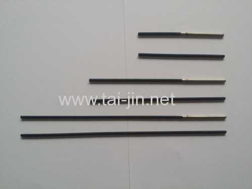 Water treatment welding rod coated with precious noble metal oxide