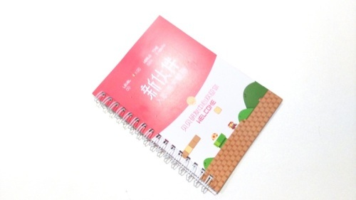 softcover spiral coil bound notebook printing