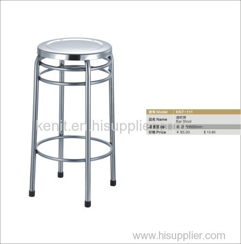stainless steel round bar stool