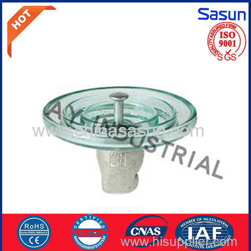 Glass suspension insulator for U100/BL