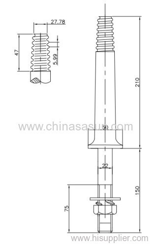 BS Large steel head for power fittings