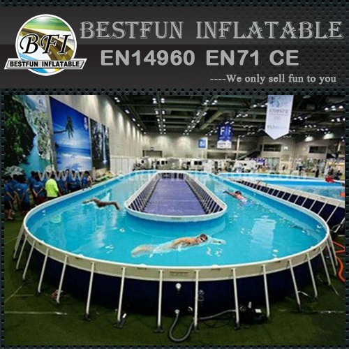 Above ground metal frame prefab swimming pool