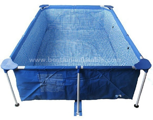 Above ground metal swimming pool