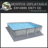 Chinok grey oval steel frame pools