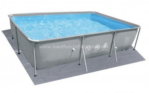 Chinook grey oval steel frame pools