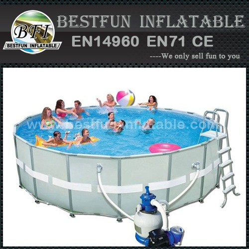 Custom size steel frame swimming pool