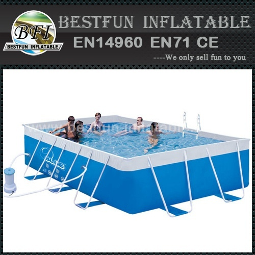 PVC fabric material metal frame pool
