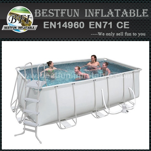 Rectangular Collapsible metal frame PVC fabric mini pool